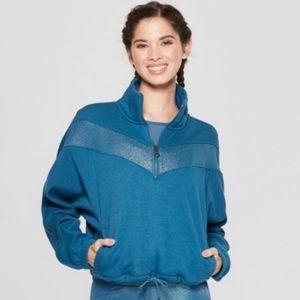 NWT joy lab teal metallic sweatshirt